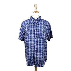 Banana Republic Linen Short Sleeve Shirt L